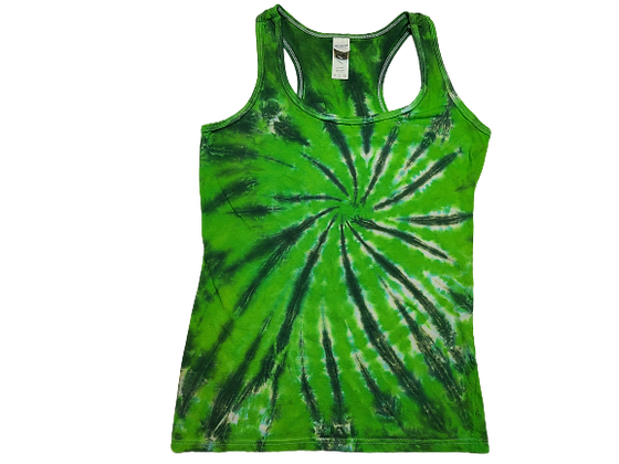 Woman's Small Racerback Tank with Burst Pattern