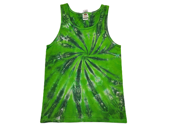 Adult Size Small Tank Top with Two Color Burst Spiral