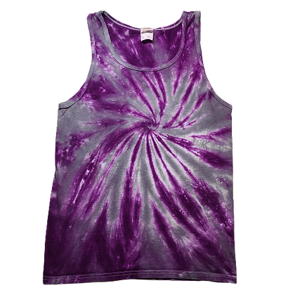 Adult Size Small Tank Top with Burst Spiral