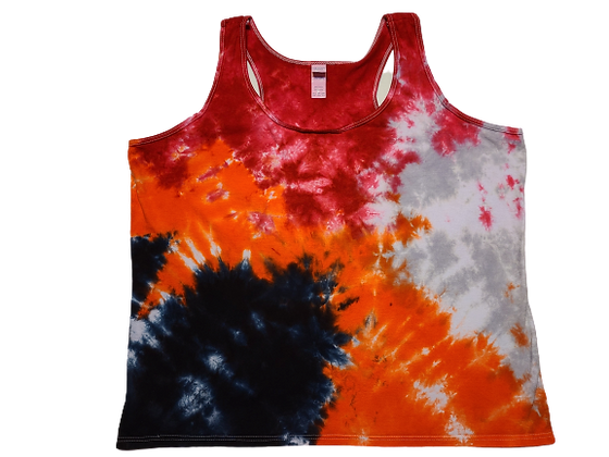 Woman's 2XL Racerback Tank with Four Mottled Colors