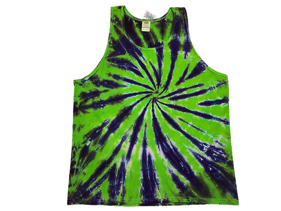 Adult Size XL Tank Top with Two Color Burst Spiral