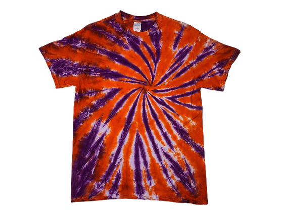 Adult Medium Two Color Burst Pattern Shirt