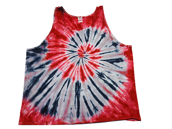 Adult Size 3XL Tank Top with Four Colors in Two Spirals