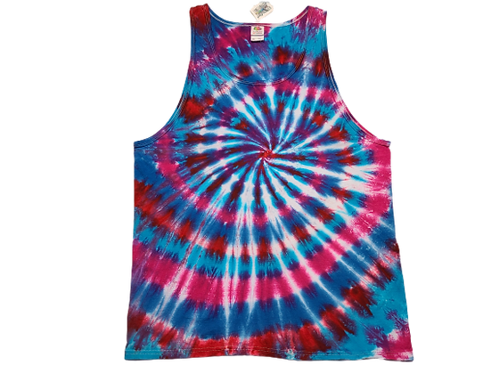 Adult Size 2XL Tank Top with Four Color Classic Spiral