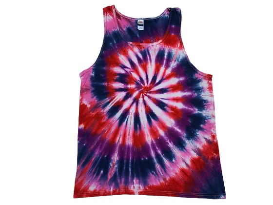 Adult Size Large Tank Top with a Four Color Classic Spiral