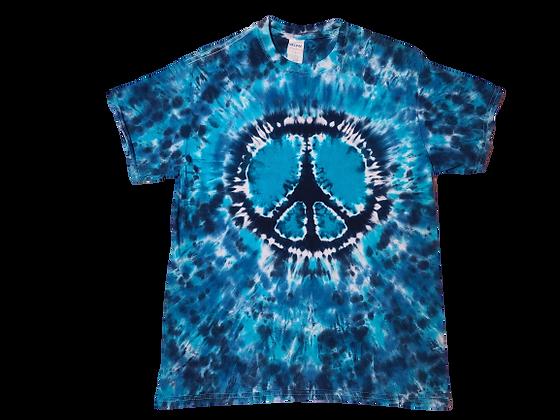 Make a Mottled Peace Sign Shirt