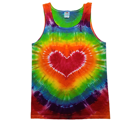 Adult Size Small Tank Top with a Rainbow Heart