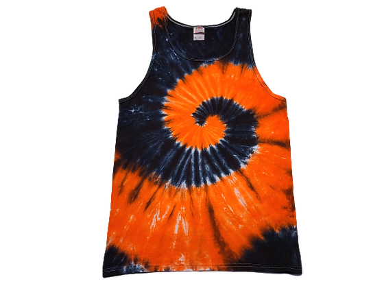 Adult Size Medium Tank Top with Two Colors in Two Spirals