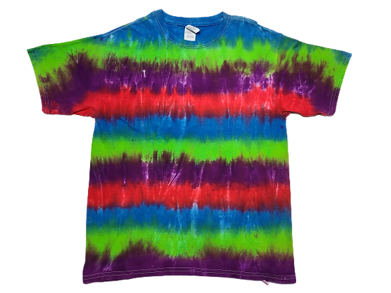 Kid's XL Shirt with Multi-Color Horizontal Stripes