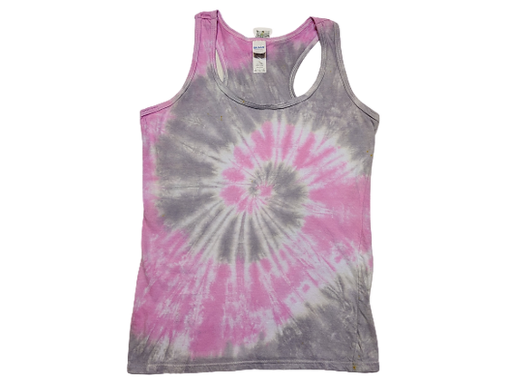Woman's Small Racerback Tank with a Two Spiral Pattern