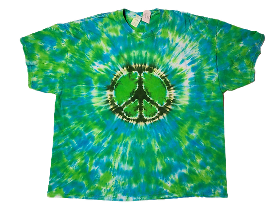 Adult 3XL Mottled Peace Sign Shirt