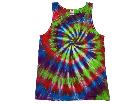 Adult Size Medium Tank Top with Four Color Classic Spiral