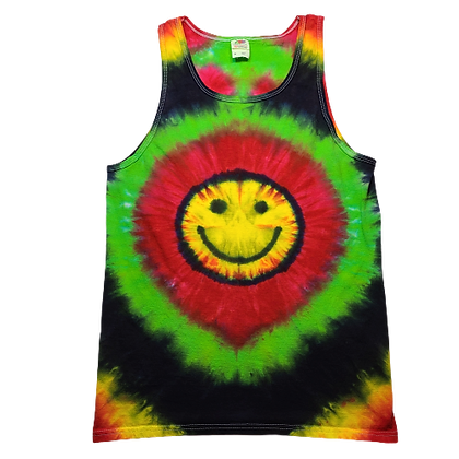 Adult Size Medium Tank Top with a Happy Face