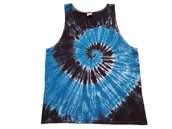 Adult Size XL Tank Top with Two Colors in Two Spirals