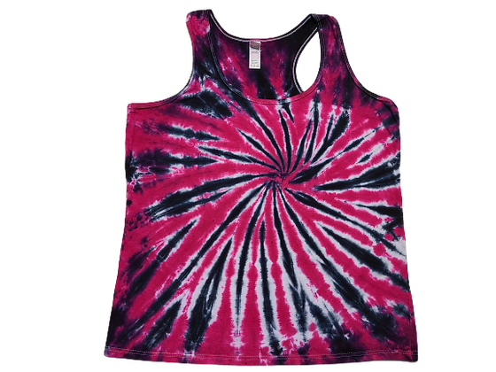 Woman's XL Racerback Tank with a Burst Spiral