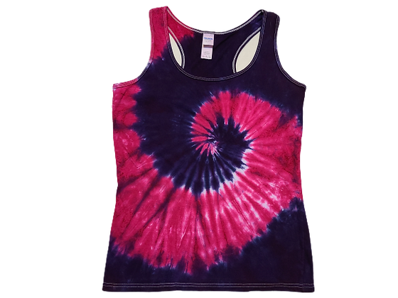 Woman's Small Racerback Tank with Two Spirals