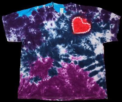 Make a Mottled Shirt with an Offset Heart