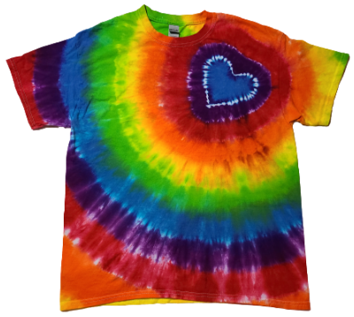 Make a Multi Color Shirt with Offset Heart