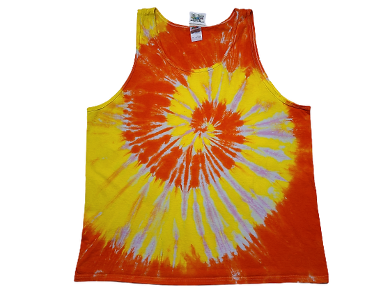 Adult Size 2XL Tank Top with Three Colors in Two Spirals
