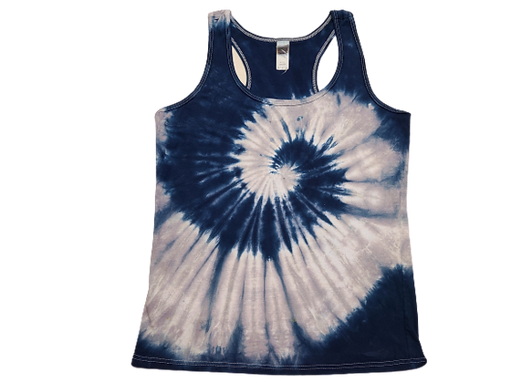 Woman's Medium Racerback Tank with Two Spirals