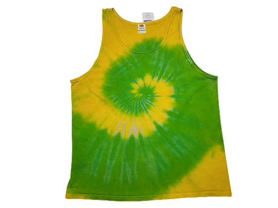 Adult Size 2XL Tank Top with Two Colors in Two Spirals