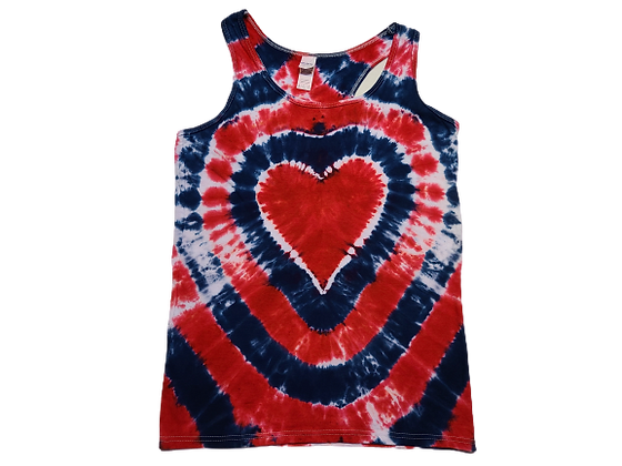 Woman's Medium Racerback Tank with a Heart and Circular Lines