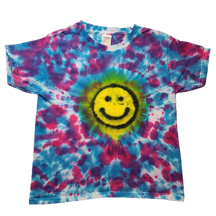 Kid's Extra Small Shirt with a Happy Face and Mottled Colors