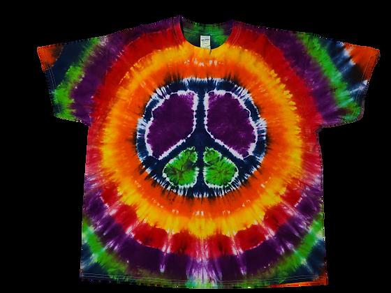 Adult 2XL Multi-Color Peace Sign Shirt
