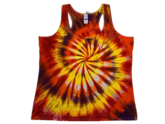 Woman's XL Racerback Tank with a Four Color Classic Spiral