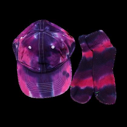 Purple Ball Cap and Quarter Top Sock Set
