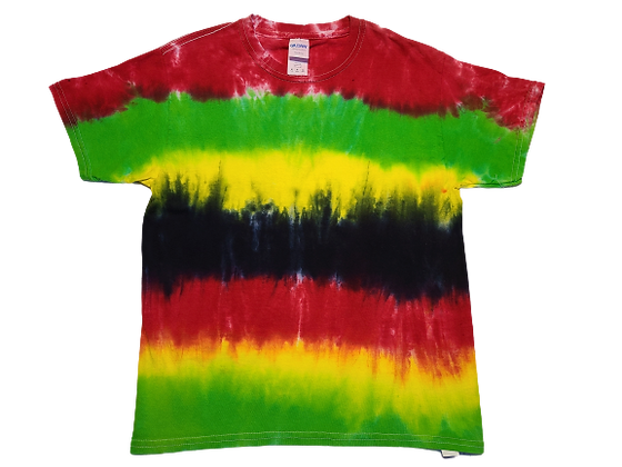 Kid's Medium Shirt with Multi-Color Horizontal Stripes