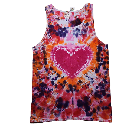 Adult Size Medium Tank Top with a Heart