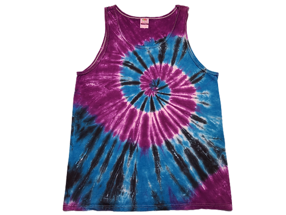 Adult Size Large Tank Top with Three Colors in Two Spirals