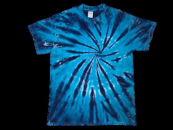 Adult Medium Two Color Burst Pattern Shirt