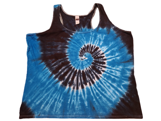 Woman's 2XL Racerback Tank with Two Spiral Pattern
