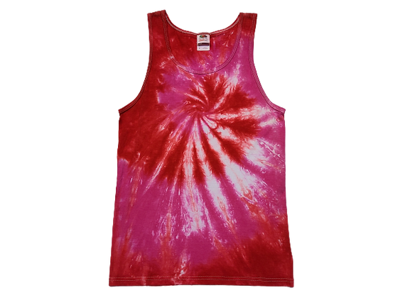 Adult Size Small Tank Top with Two Colors and Two Spirals