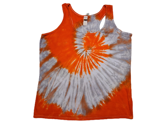 Woman's XL Racerback Tank with Two Spirals
