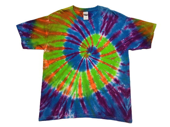 Make A Kid's Four Color, Two Spiral Pattern Shirt