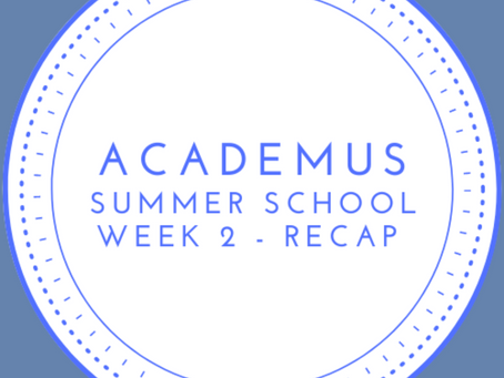Summer School Roundup - Week 2