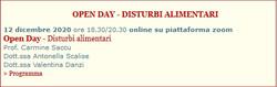 DISTURBI ALIMENTAZIONE OPEN DAY DICEMBRE
