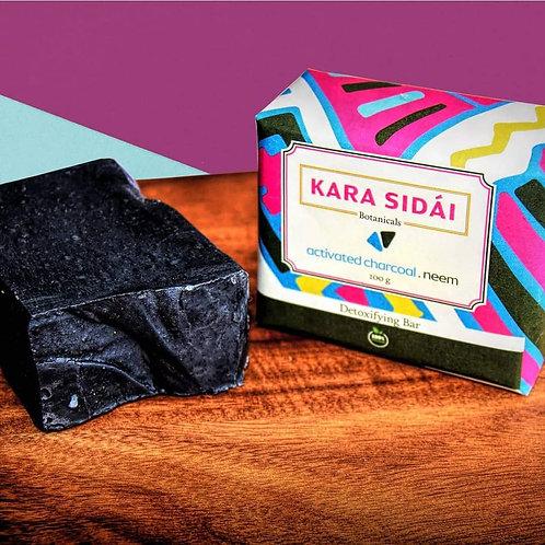 Kara Sidai Activated Charcoal and Neem Detoxifying Bar