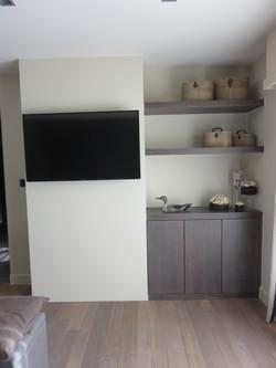 TV wand slaapkamer