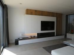 Moderne haard en TV-wand