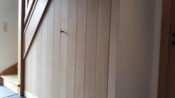 Wand onder trap