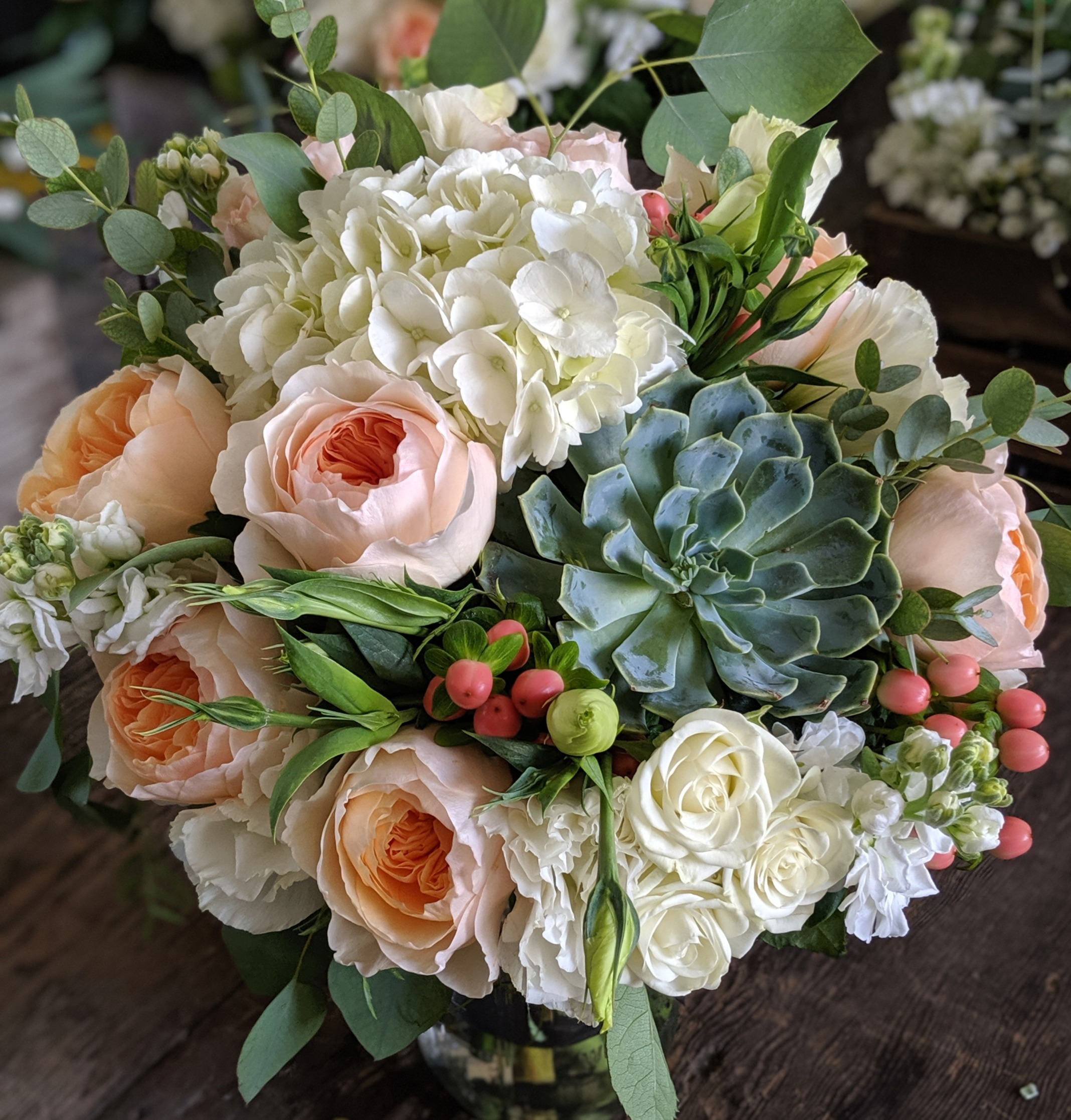 Peaches and Creme Bouquet