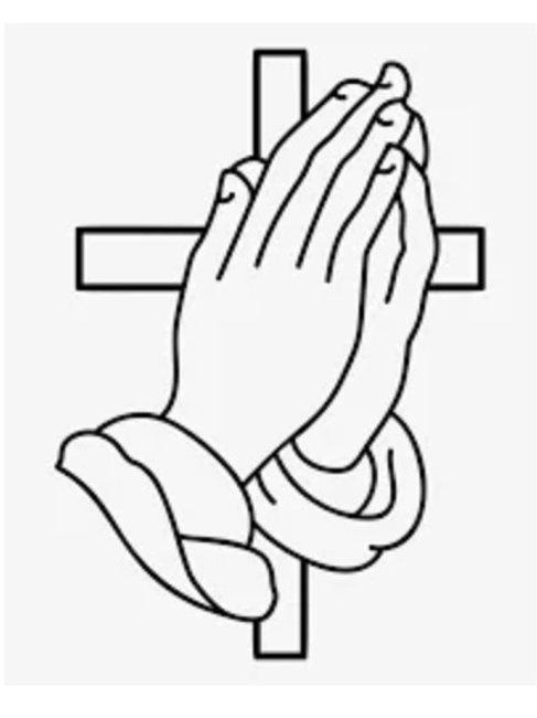 Praying Hands & Cross