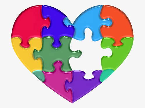 Autism Heart- Paint your Photo Frame