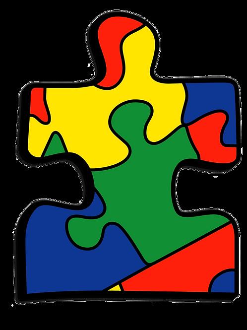 Autism Puzzle- Paint your photo frame