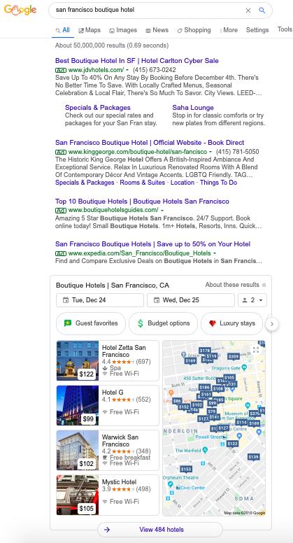 Sự cạnh tranh giữa OTA và Google