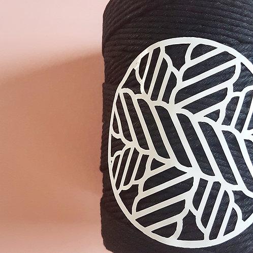 Black Macrame Cord Single Ply